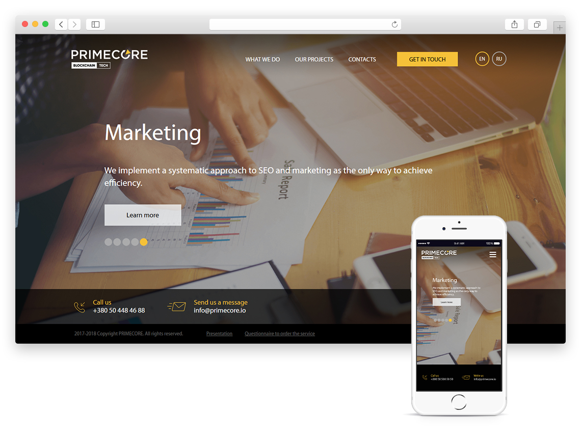 PRIMECORE - Innovative Mobile & Web